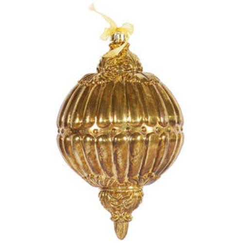 Vickerman 12 Antique Gold Ball Drop Orn 1/Bx Ball Ornament