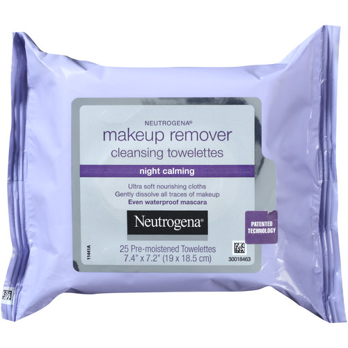 Neutrogena Cleansing Towelettes, Makeup Remover, Night Calming, 25 towelettes