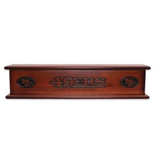 NFL San Francisco 49ers 20-Inch Memorabilia Shelf in Brown