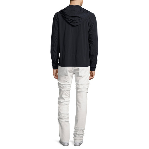 MAISON MARGIELA Nylon Zip-Up Hooded Jacket, Black