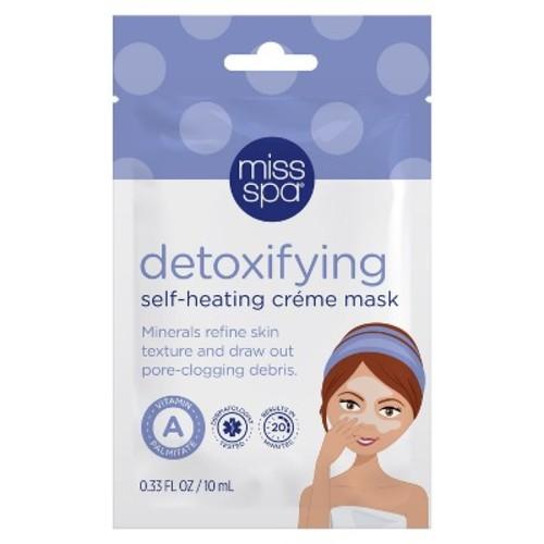 Miss Spa Detoxifying Self-Heating Crme Facial Sheet Mask - 1ct