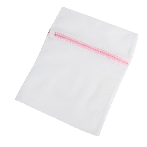 Zipper Lingerie Delicates Clothes Mesh Laundry Washing Bag Travel Trip Packing Bag Home Household Pink White