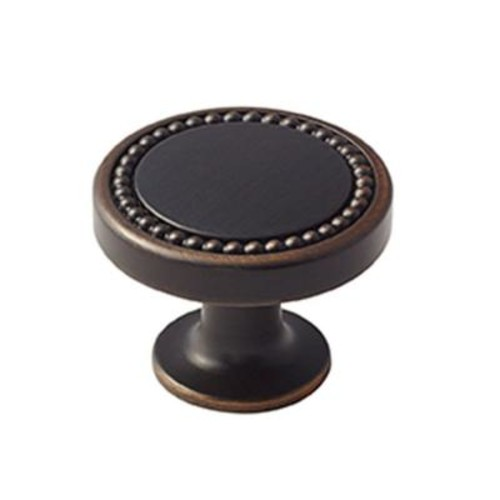 Amerock Carolyne 1-3/8 in. (35 mm) Oil-Rubbed Bronze Cabinet Knob