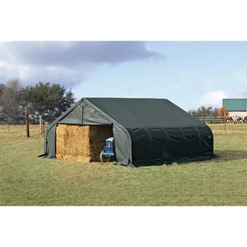 ShelterLogic Peak 20 Ft. W x 22 Ft. D Shelter; Green