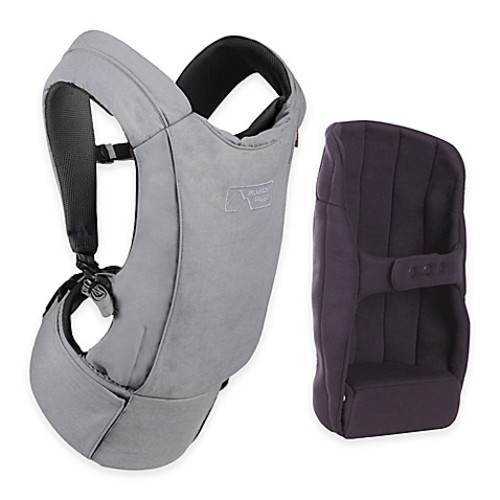 Mountain Buggy Juno Baby Carrier with Infant Insert in Charcoal