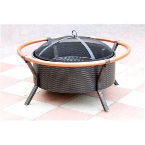 Jeco FP008 34 inch Copper Brush Fire Pit