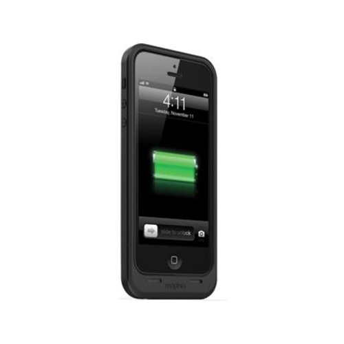 mophie juice pack air (Black) iPhone 5/5S case with Lightning connector and built-in rechargeable backup battery