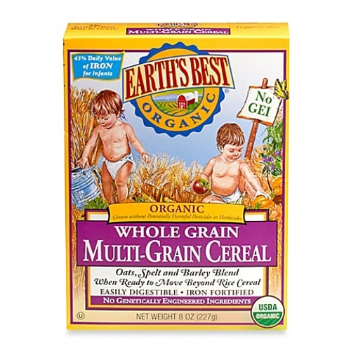 Earth's Best Organic 8 oz. Whole Grain Multi-Grain Cereal