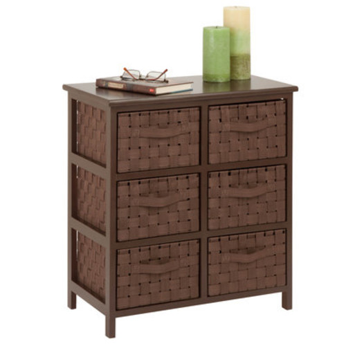 Woven Strap 6 Drawer Chest