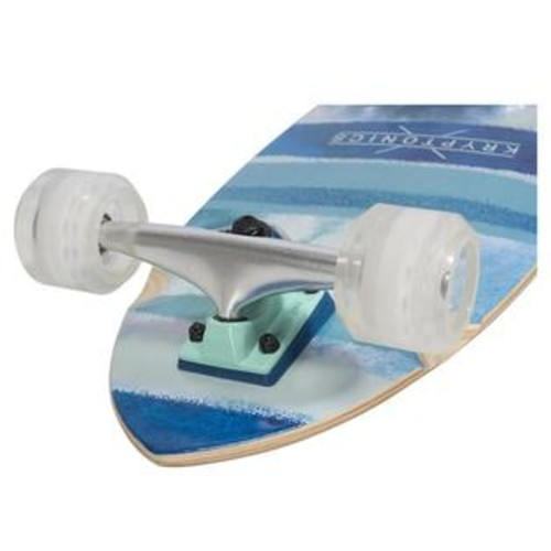 Kryptonics 30.5 inch Super Fat Cruiser Skateboard - Blue Fish