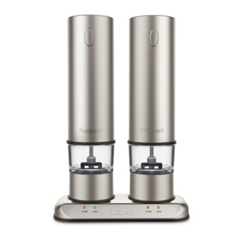 Cuisinart Rechargeable Electric Salt & Pepper Mill Set in Brushed Stainless Steel
