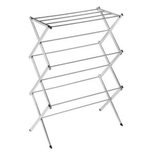 Honey-Can-Do Commercial Chrome Accordion Drying Rack