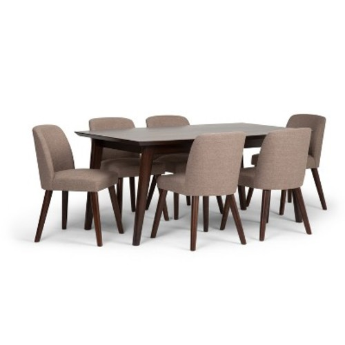 Emery Mid Century Dining Set - Fawn Brown - Simpli Home