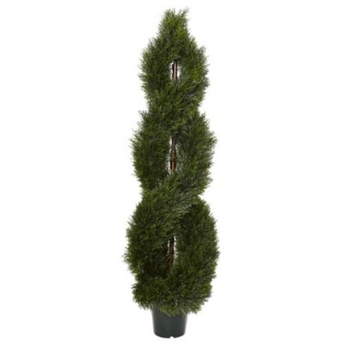 5' Pond Cypress Spiral Topiary UV Resistant (Indoor/Outdoor)