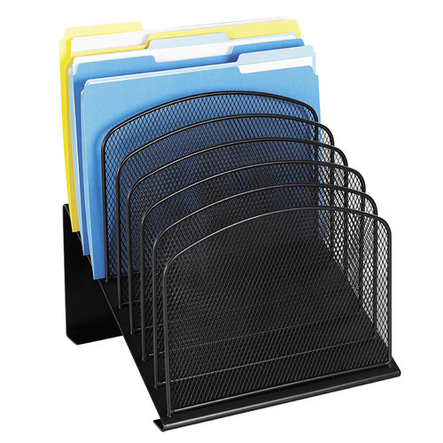 Safco Products 3258BL Onyx Mesh Desktop Organizer with 8 Tiered Sections, Black [Black]