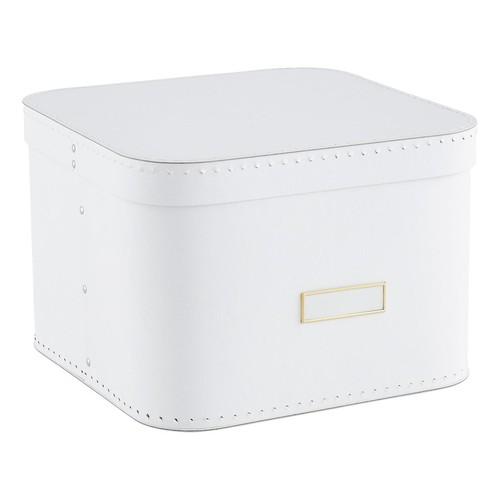 White Oskar Storage Box with Lid