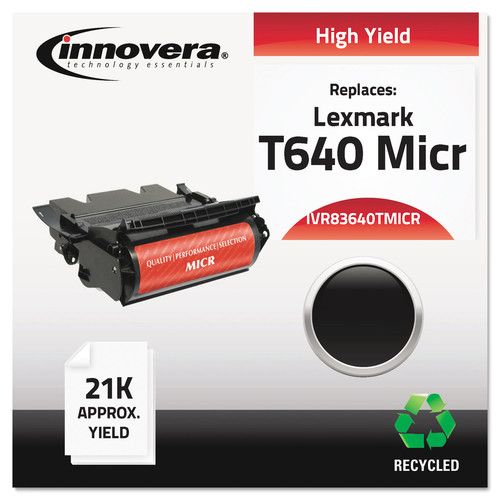 Innovera Remanufactured 64015HA(M) (T640M) High-Yield MICR Toner Black
