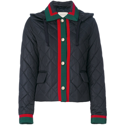 GUCCI Quilted Contrast Trim Jacket