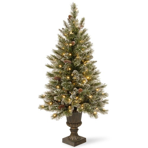 National Tree Company 5-ft. Clear Pre-Lit Artificial Pine Glitter Porch Tree
