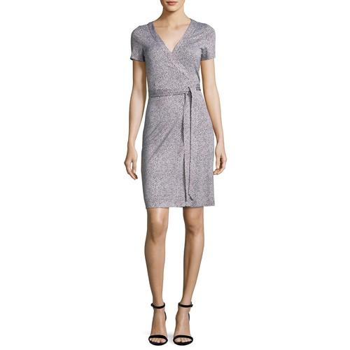 DIANE VON FURSTENBERG Julian Two Silk Short-Sleeve Wrap Dress