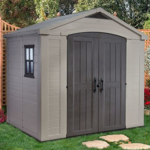 Keter Factor 8 ft. 5 in. W x 6 ft. D Plastic Storage Shed