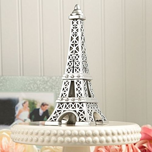 Fashioncraft From Paris with Love Collection Eiffel Tower Centerpiece/Cake Topper [1, Silver/Gray]