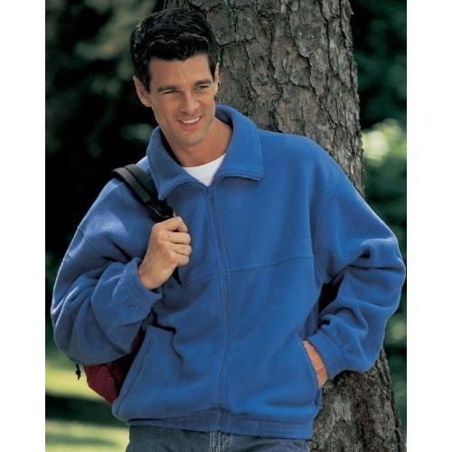 Tri-Mountain Men's Big And Tall Full Zip Fleece Jacket, Khaki, 6 Tall