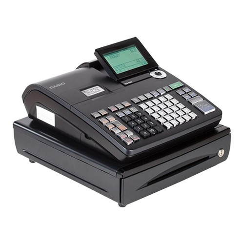 Casio PCRT500 Cash Register With LCD Display, Black/Silver
