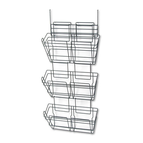 Safco Products 4151CH PanelMate Triple File Basket, Letter Size, Charcoal [Triple File Basket]