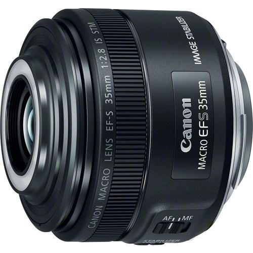 Canon - EF-S 35mm f/2.8 Macro IS STM Lens for Canon APS-C DSLR - Black