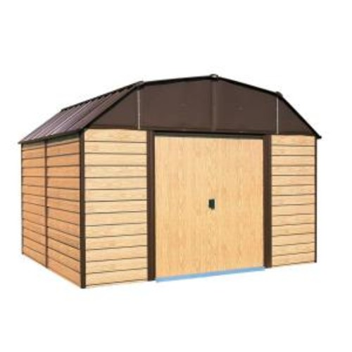 Arrow Woodhaven 10 ft. x 14 ft. Metal Storage Building