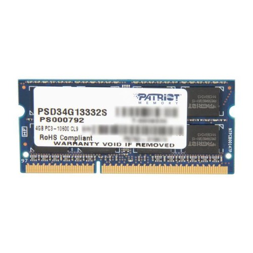 Patriot Signature 4GB 204-Pin DDR3 SO-DIMM DDR3 1333 (PC3 10600) Laptop Memory Model PSD34G13332S
