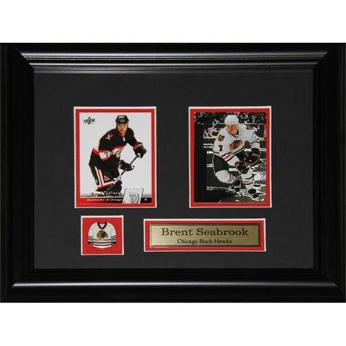 Midway Memorabilia Brent Seabrook Chicago Blackhawks 2 Card Frame