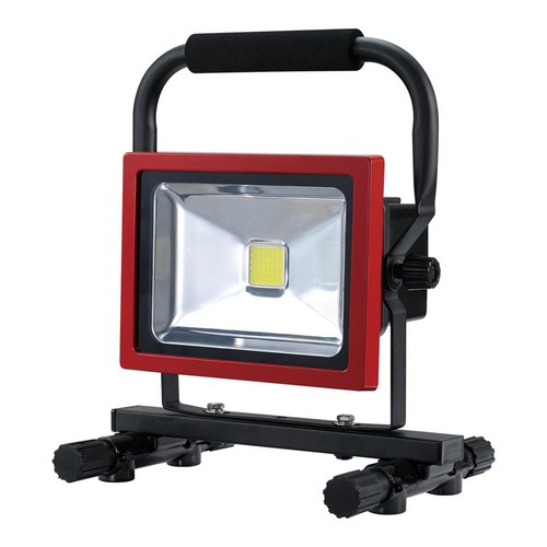 Globe Electric 20-Watt Black/Red Integrated LED Industrial Work Light