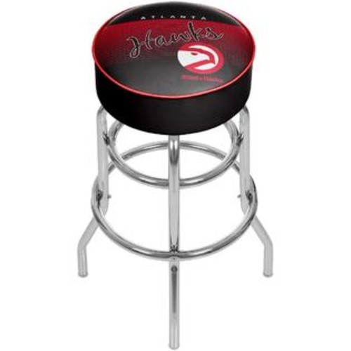 TRADEMARK GLOBAL ATLANTA HAWKS CHROME PADDED SWIVEL BAR STOOL