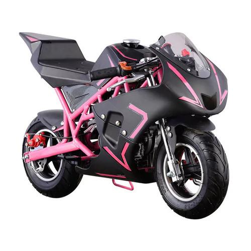 MotoTec Bicycles, Ride-On Toys & Scooters MotoTec Pink Cali 40cc Gas Pocket Bike