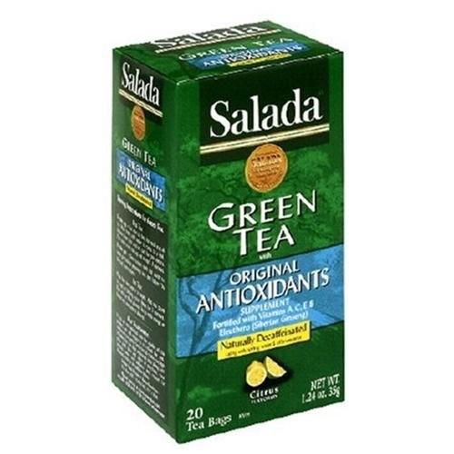 Salada Anti-Oxi Decaffeinated Green Tea, 20 Count Box (Pack of 6)