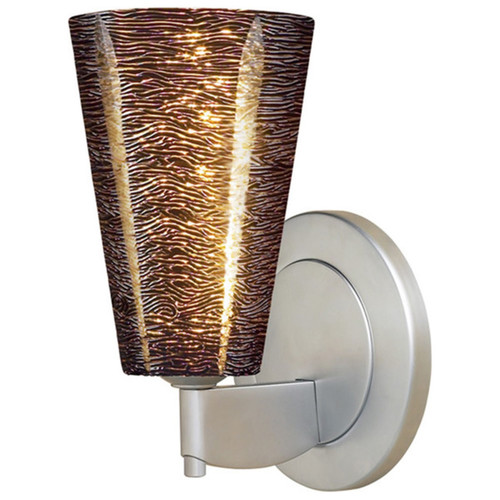 Bruck Lighting Bling 2 Low Voltage Matte Chrome Wall Sconce with Black Textured Glass Shade - Black