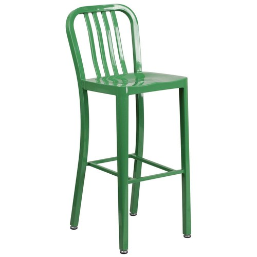 Flash Furniture 30.25 in. Green Bar Stool