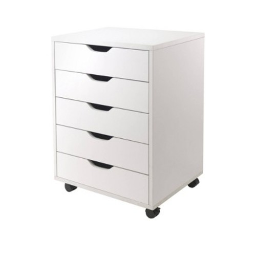 Winsome Halifax Cabinet for Closet/Office, 5 Drawers, White [White]