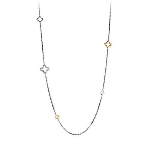 Quatrefoil Chain Necklace with G