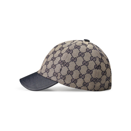 GUCCI Kids' Gg Supreme Baseball Cap, Beige/Blue