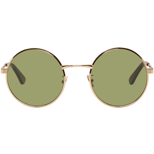 SAINT LAURENT Gold Sl 136 Zero Retro Sunglasses
