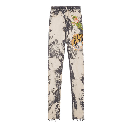 GUCCI Embroidered Stretch Denim Skinny Pant