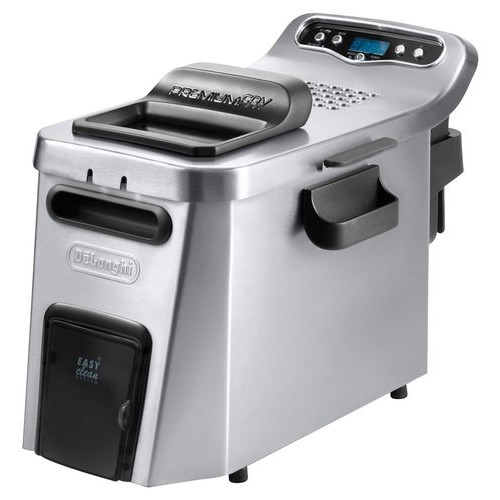 DeLonghi - Dual-Zone Deep Fryer - Stainless-Steel