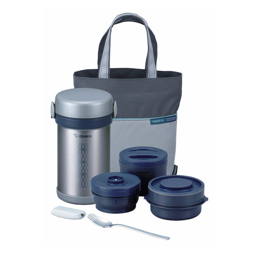 Zojirushi SL-NCE09 Ms. Bento Stainless-Steel Vacuum Lunch Jar [Stainless, 1]