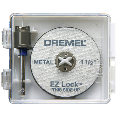 Dremel EZ406-02 1 1/2-Inch EZ Lock Rotary Tool Cut-Off Wheel and Mandrel Metal Cutting Starter Kit