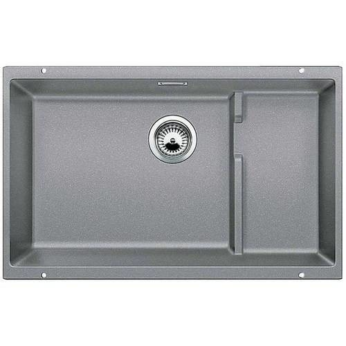 BLANCO Precis 28.75-in x 18.125-in Metallic Gray (Gray) Single-Basin Granite Undermount Residential Kitchen Sink