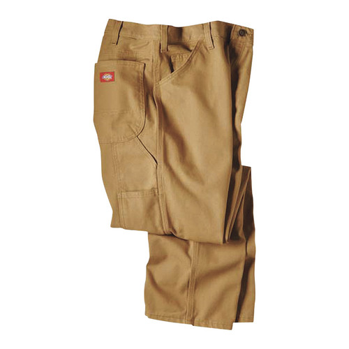 Dickies Men's 12-Oz. Duck Relaxed Fit Carpenter Pants - Brown, 38in. x 30in., Model# 1939RBD