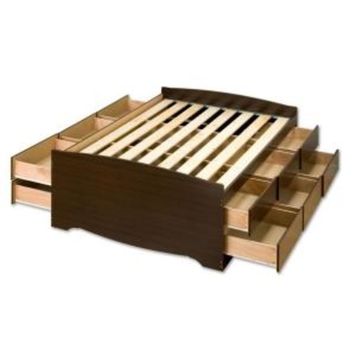 Prepac Fremont Full Wood Storage Bed